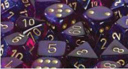 D6 -- 12Mm Borealis Dice, Royal Purple/Gold, 36Ct - Boardlandia