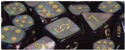 D6 -- 12Mm Lustrous Dice, Shadow/Gold, 36Ct - Boardlandia