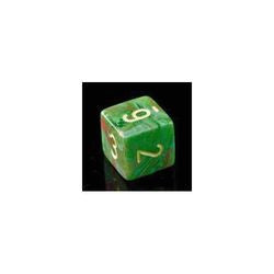 D6 -- 12Mm Vortex Dice, Slime/Yellow, 36Ct - Boardlandia