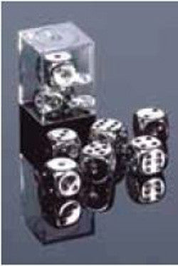 D6 -- 16Mm Metallic Dice, Silver, 2Ct - Boardlandia
