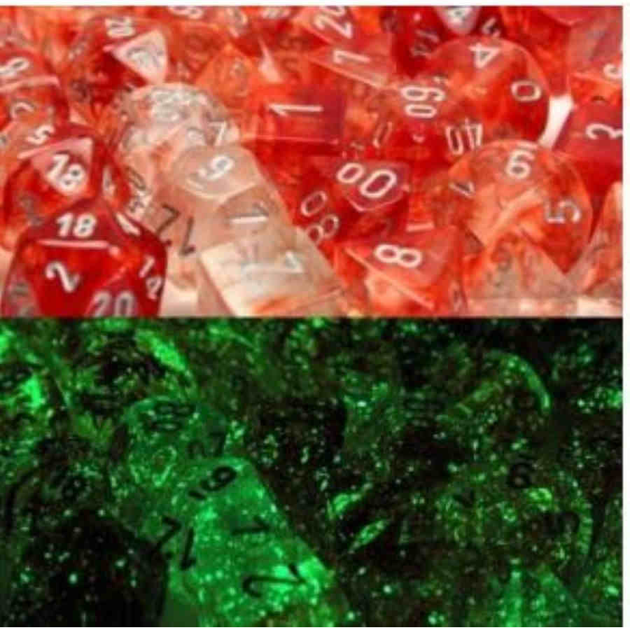 Lab Dice Nebula: Poly Red/Silver (7)