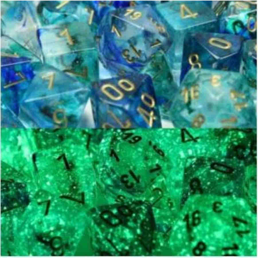 Lab Dice Nebula: Poly Oceanic/Gold Luminary (7)