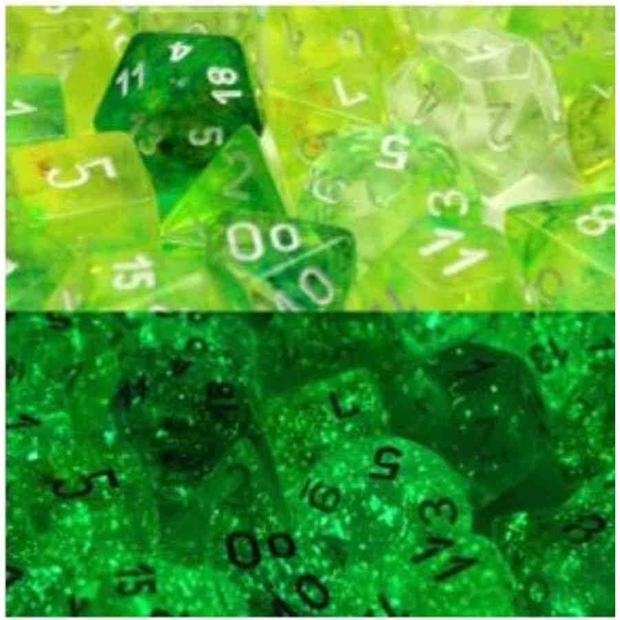 Lab Dice Nebula: Poly Spring/White Luminary (7)
