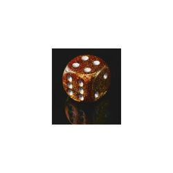 Bag Of 20 Assorted Glitter Dice, Gold/Silver (Numbers, Standard Size) - Boardlandia