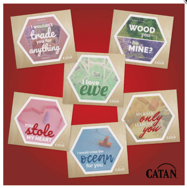 Catan: Valentine Card Pack - 6 Cards