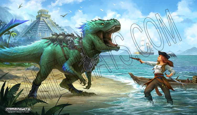 Gamermats - Dinosaur and Pirate by Sandara