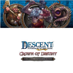 Descent Second Edition : Journeys In The Dark  - Crown Of Destiny - Hero And Monster Collection