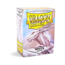 Dragon Shield Sleeves: Matte White (Box Of 100)