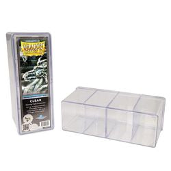 Dragon Shield Four-Compartment Deck Box: Clear