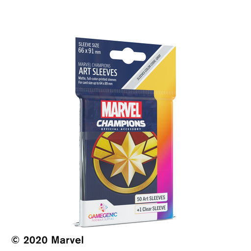 Marvel Champions Art Sleeves: Captain Marvel (Pre-Order)