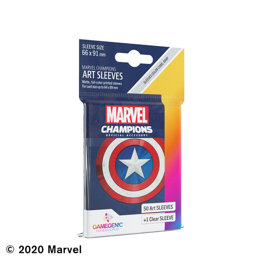 Marvel Champions Art Sleeves: Captain America (Pre-Order)