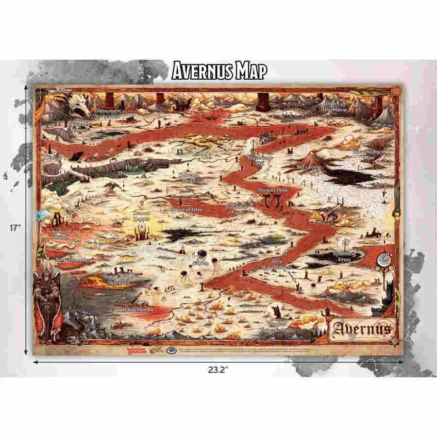 Dungeons and Dragons: Baldur's Gate - Descent into Avernus - Avernus Vinyl Map (23 x 15)