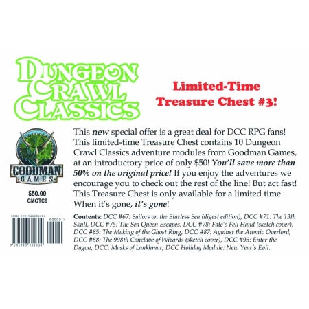 DUNGEON CRAWL CLASSICS - TREASURE CHEST 3 BOXED SET