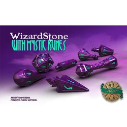 Polyhero Dice: Wizard Set - Wizardstone With Mystic Runes - Boardlandia