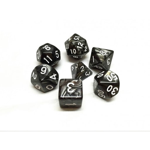 7 Die Set - Black Pearl