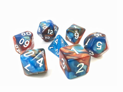 7 Die Set - (Blue+Golden) Blend Color