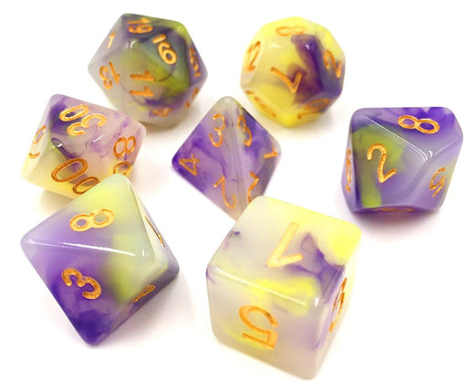 7 Die Set - (Yellow+Purple) Jade