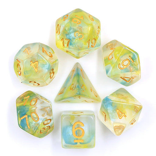 7 Die Set - (Yellow+Blue) Pearl Swirl