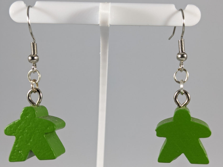 Meeple Earrings: Hanging - Green