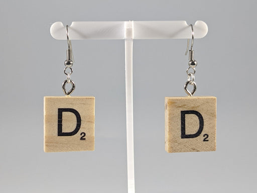 Scrabble Earring: Light Natural - D