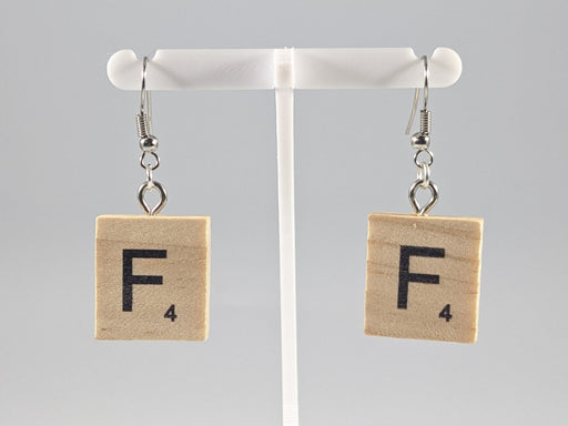 Scrabble Earring: Light Natural - F