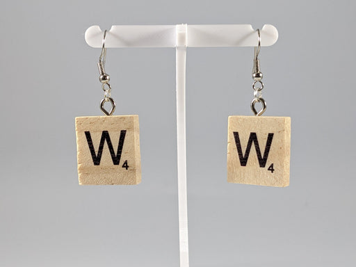 Scrabble Earring: Light Natural - W