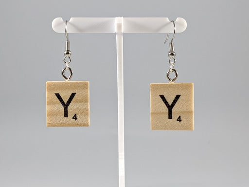 Scrabble Earring: Light Natural - Y