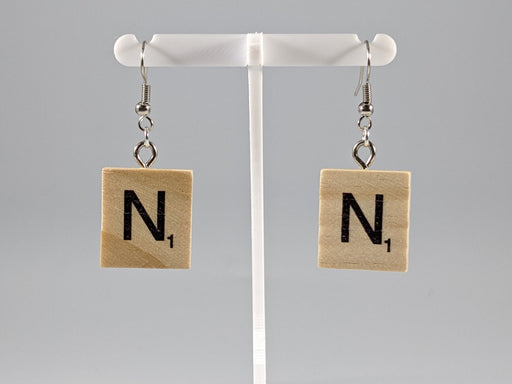 Scrabble Earring: Light Natural - N