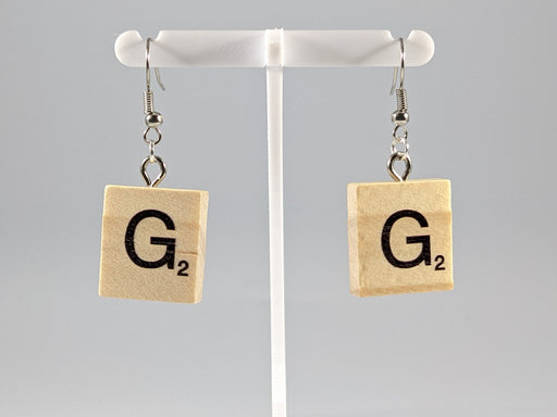 Scrabble Earring: Light Natural - G