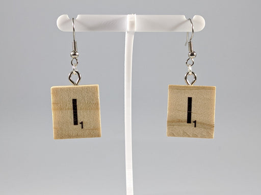 Scrabble Earring: Light Natural - I