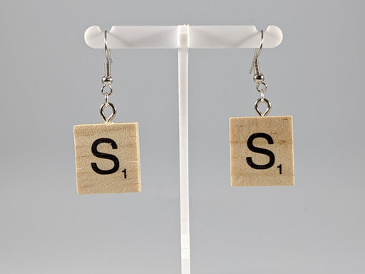 Scrabble Earring: Light Natural - S