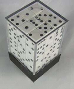 Square Cornered Dice D6 12Mm White/Black - Boardlandia