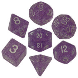 Dice Set - 7 Count 16Mm Light Purple Ethereal Glitter - Boardlandia