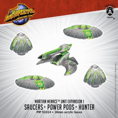 Monsterpocalypse: Martian Menace - Saucers, Power Pods, and Hunter