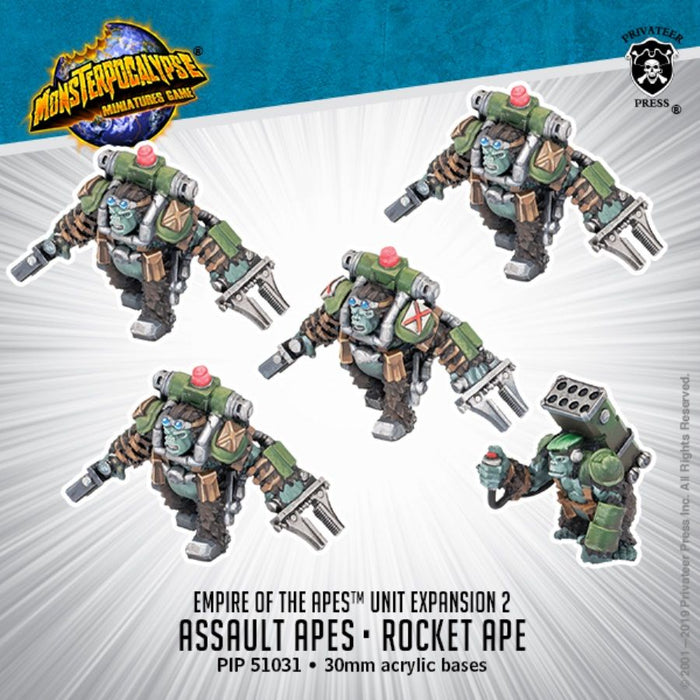 Monsterpocalypse: Empire of the Apes Unit - Assault Apes and Rocket Ape