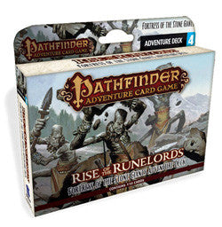 "Pathfinder Adventure Card Game: ""Fortress Of The Stone Giants"" Rise Of The Runelords (Deck 4) - Boardlandia"