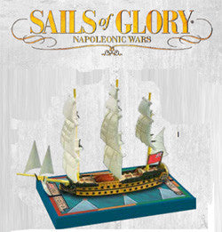 SAILS OF GLORY:HMS ZEALOUS 1785 - BRITISH S.O.L SHIP PACK
