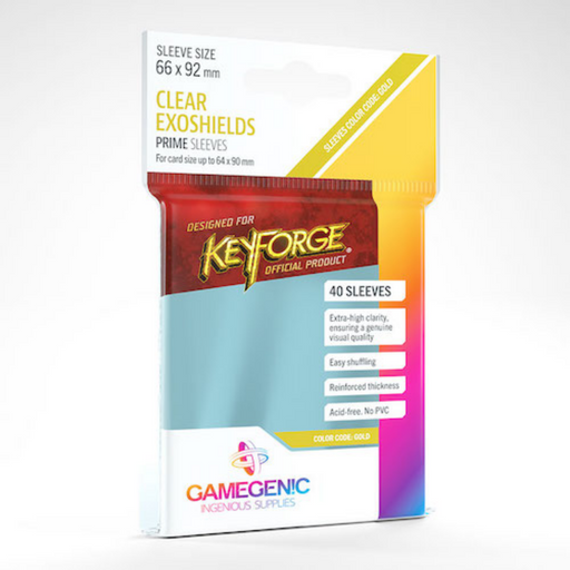 PRIME KeyForge Exoshields Clear Card Sleeves
