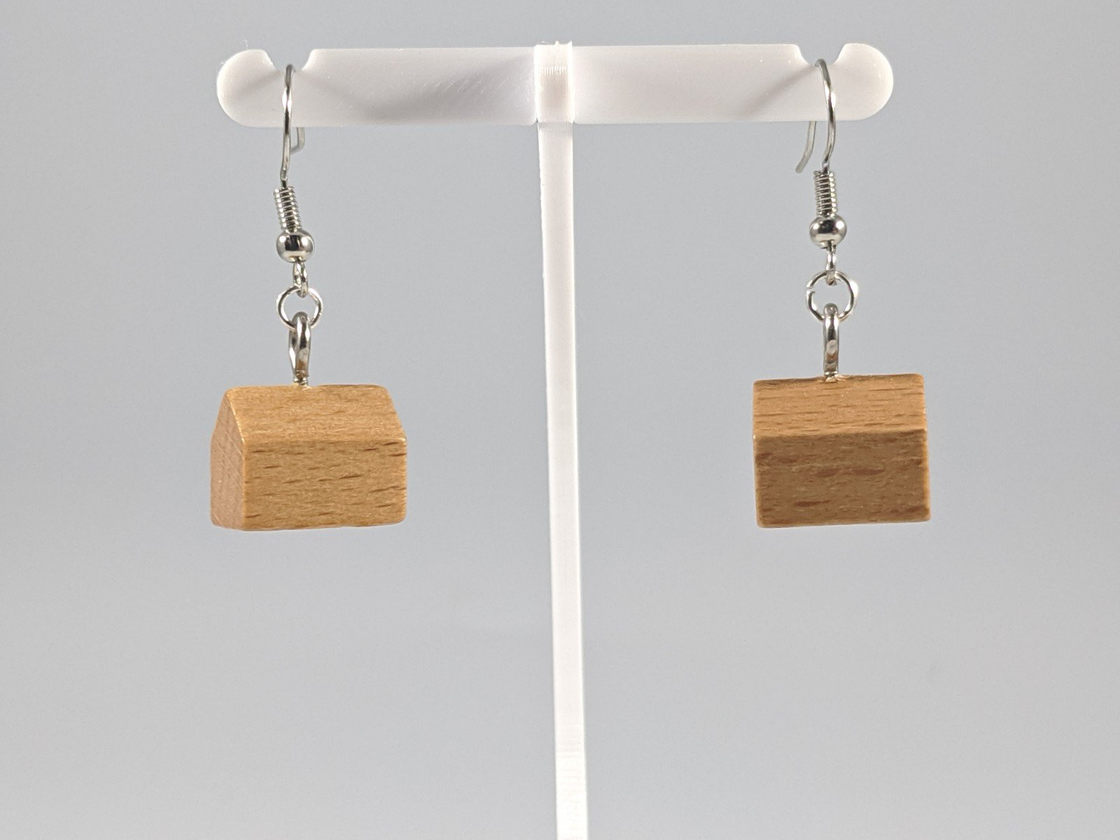 Catan Earrings: Wood Colored Settlement Pieces