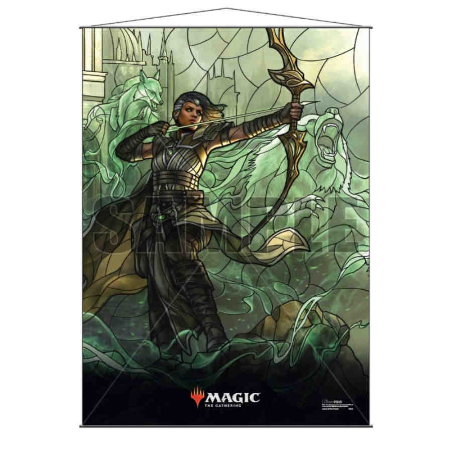 Magic The Gathering: Stained Glass Wall Scroll- Vivien