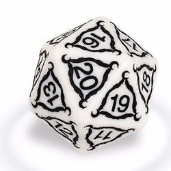 Titan Series: 20-Sided 40Mm Jumbo Dice - Ivory (84854) - Boardlandia