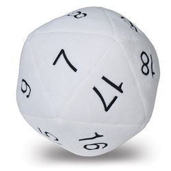 Jumbo D20 Plush Dice - White (84949) - Boardlandia