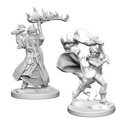 Pathfinder: Deep Cuts Unpainted Miniatures - Human Female Cleric - Boardlandia