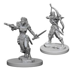 DUNGEONS AND DRAGONS: NOLZUR'S MARVELOUS UNPAINTED MINIATURES - ELF FEMALE RANGER