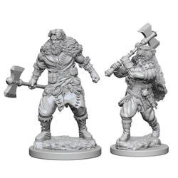 DUNGEONS AND DRAGONS: NOLZUR'S MARVELOUS UNPAINTED MINIATURES - HUMAN MALE BARBARIAN