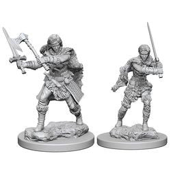 DUNGEONS AND DRAGONS: NOLZUR'S MARVELOUS UNPAINTED MINIATURES - HUMAN FEMALE BARBARIAN