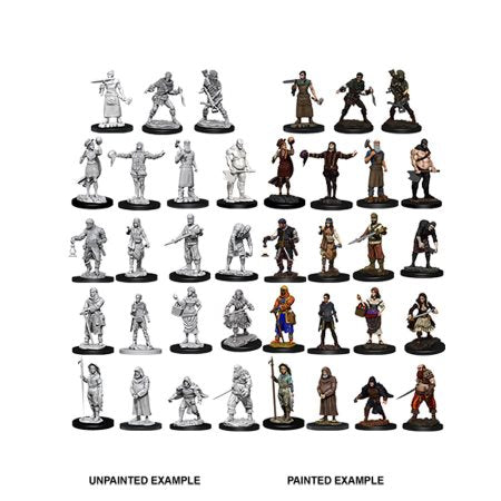 Deep Cuts Unpainted Miniatures - Townspeople & Accessories