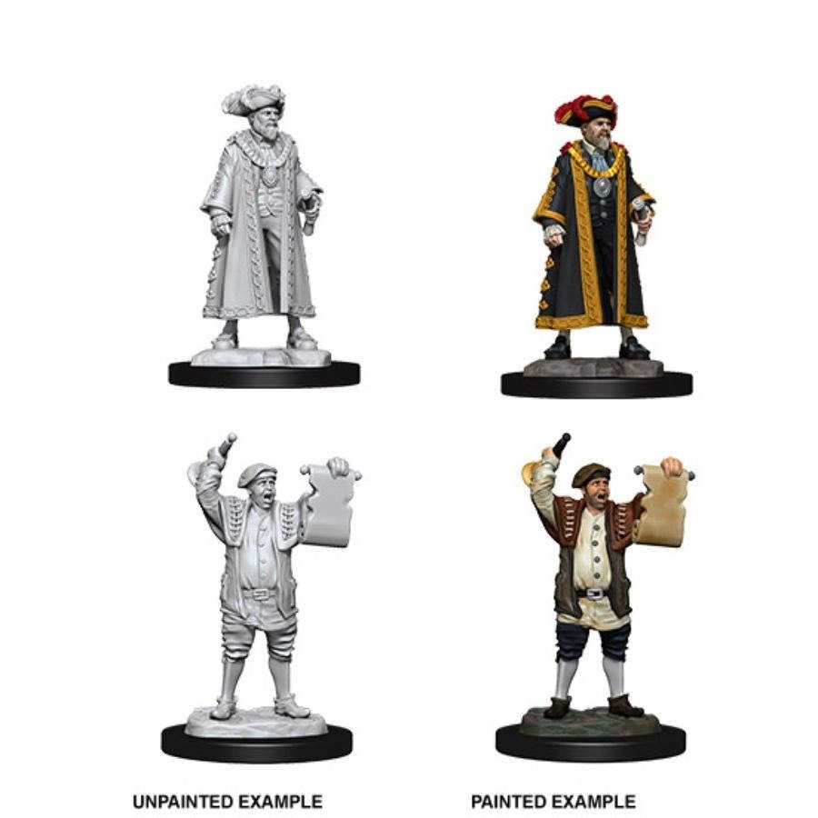 WizKids Deep Cuts Unpainted Miniatures - Mayor & Towncrier
