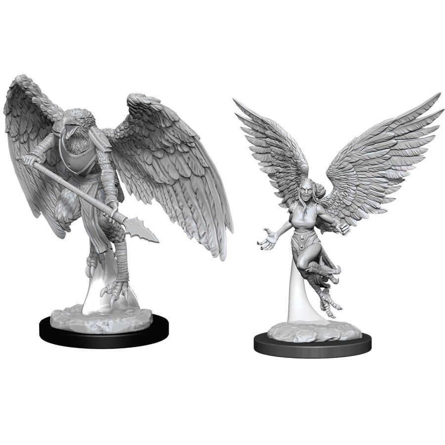 Dungeons and Dragons: Nolzur's Marvelous Unpainted Miniatures - Harpy and Arakocra
