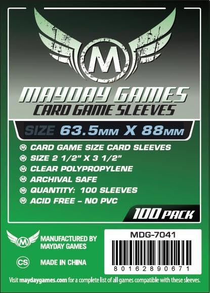 Mayday Standard Card Game Sleeves (63.5X88Mm) - 100 Count (7041)